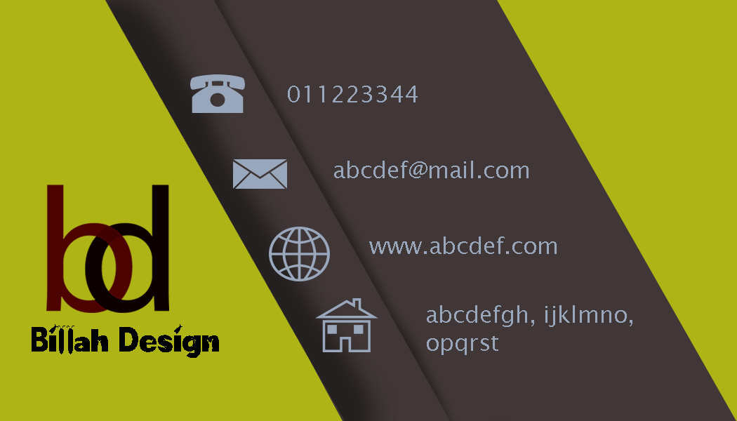 create a professional business card for your business.