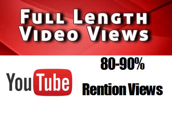 Youtub Vie-ws 80-90% Retention Vi-ews even 1 hour video supported
