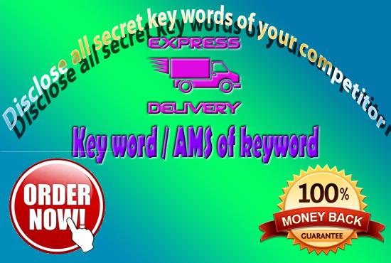 Reveal the secret keywords of your compitetors