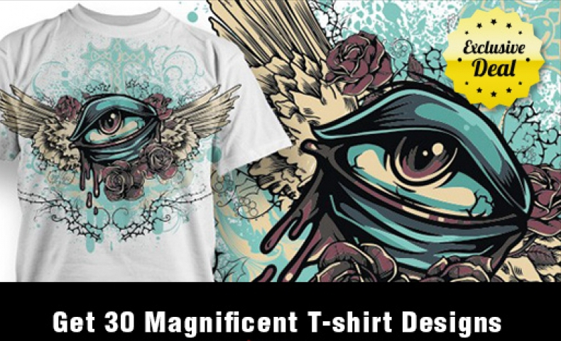 give you 30 magnificent T-shirts designs