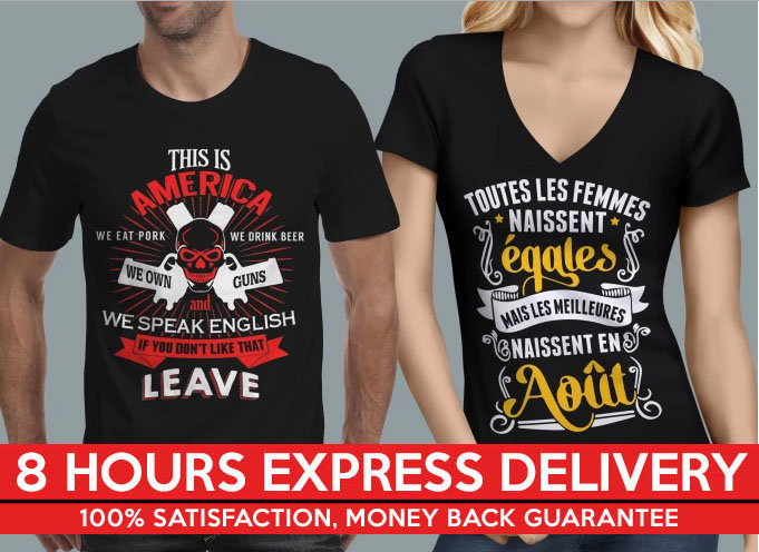 do Typography Tshirt Designs and Logo Designs