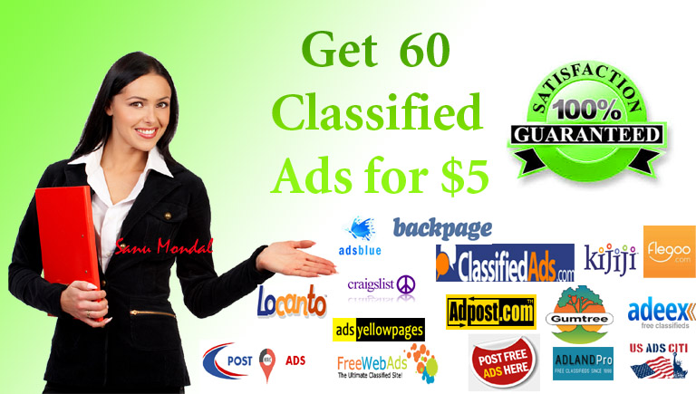 Post your ad on 60 top classified sites