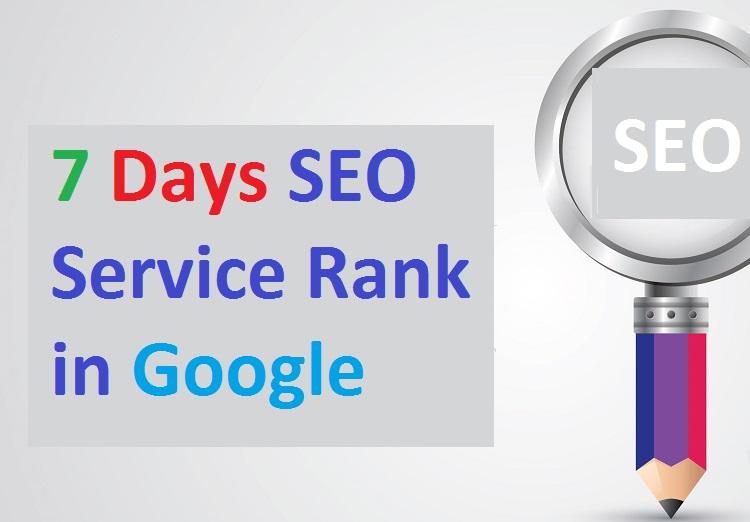 7 Days SEO Service Rank in Google