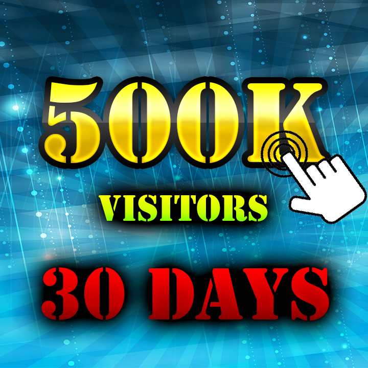 500K Visitors to your Website 30Days