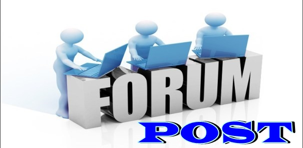 get per High Quality Forum Post and Backlink