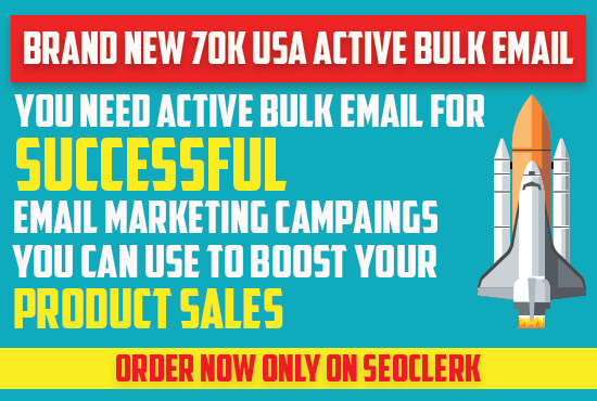 I Can Provide 70k USA Active Bulk Email Address