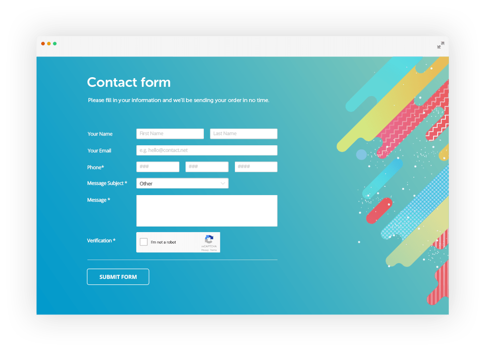 Create PHP Forms,  Contact Form,  Wordpress Forms