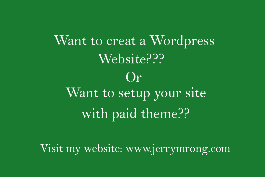 create portfolio, business, personal wordpress website