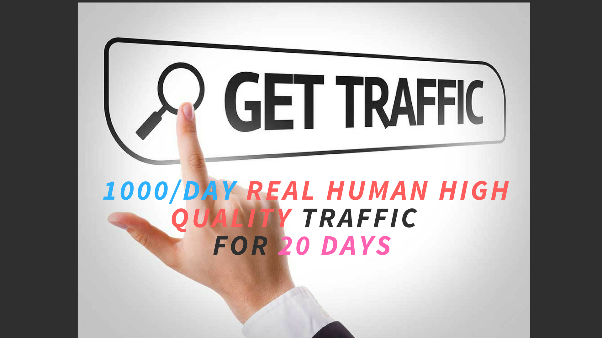 bring you real high quality traffic 1000 per day for 20 days