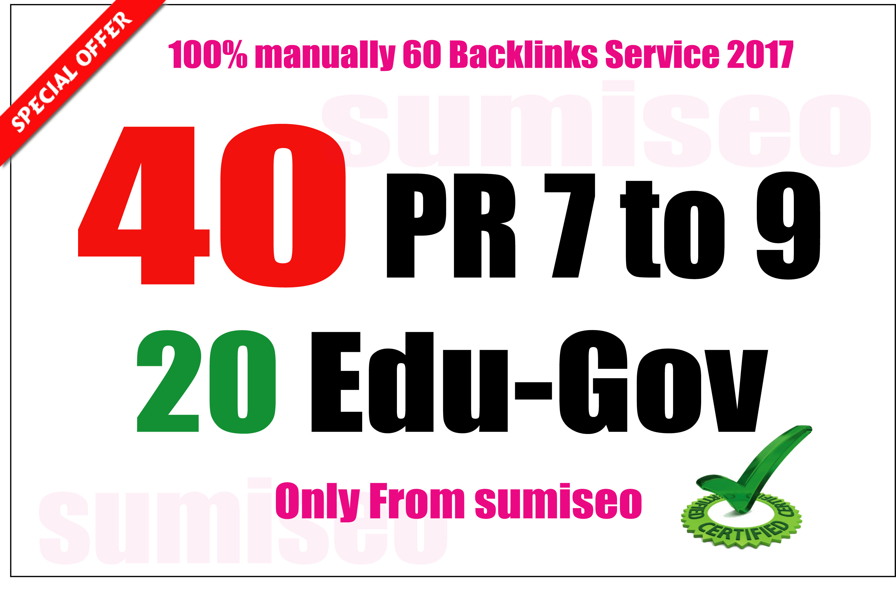40 PR9 + 20. EDU-. GOV Backlinks From Authority Domains 100 to 30