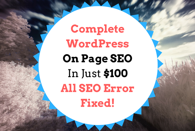wordpress on page SEO and technical optimization