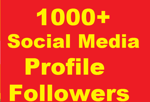 1000+ Social Profile Followers High Quality Complete in 24 Hours