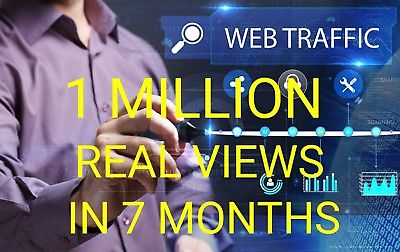 Get 1 Million 1,000,000 Visitors Traffic Within 6 Month