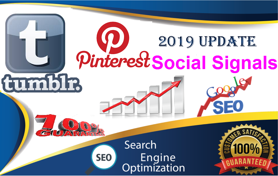 150 Tumblr+300 Pinterest share Real SEO Social Signals from top 2 sites SEO Social Signals Share Bookmarks Important Google Ranking Factors