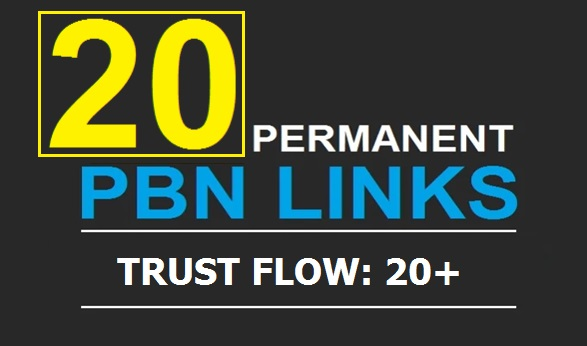 Get 20 Powerful TF 20+ PBN Backlinks with Unique Cont...