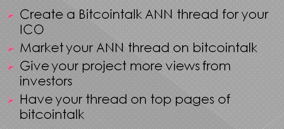 I will create and market your bitcointalk ann thread