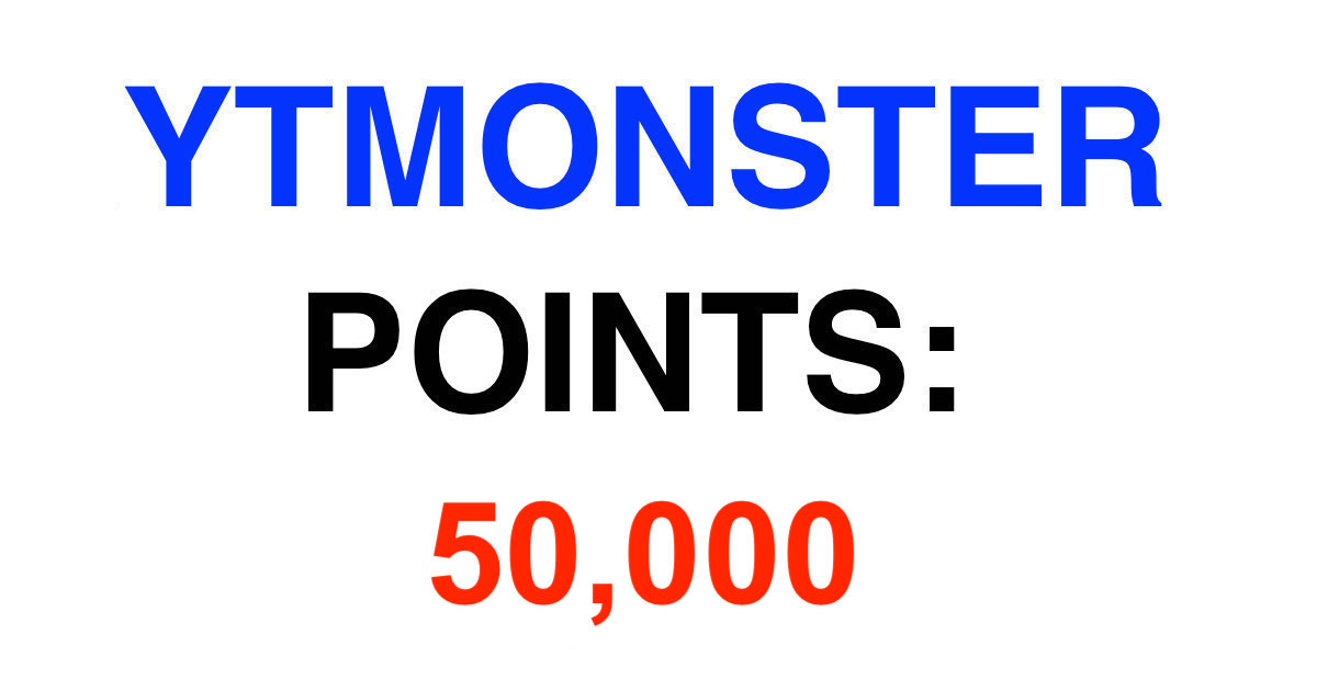 Get 50k ymonster points account for just 5