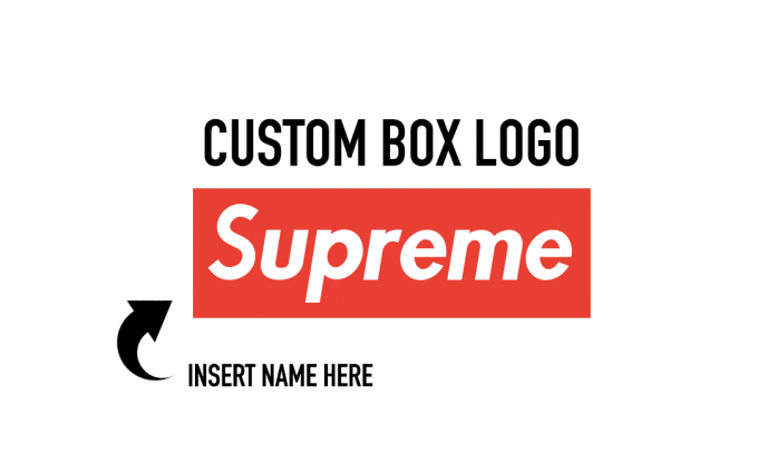 supreme logo with whatever text you like