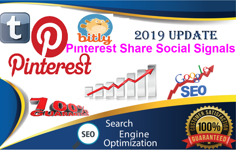 TOP 3 Sites 50,000 pinterest share + Real SEO Social Signals 10 Tumblr+ 500 bitly views from SEO Social Signals Share Bookmarks Important Google Ranking Factors