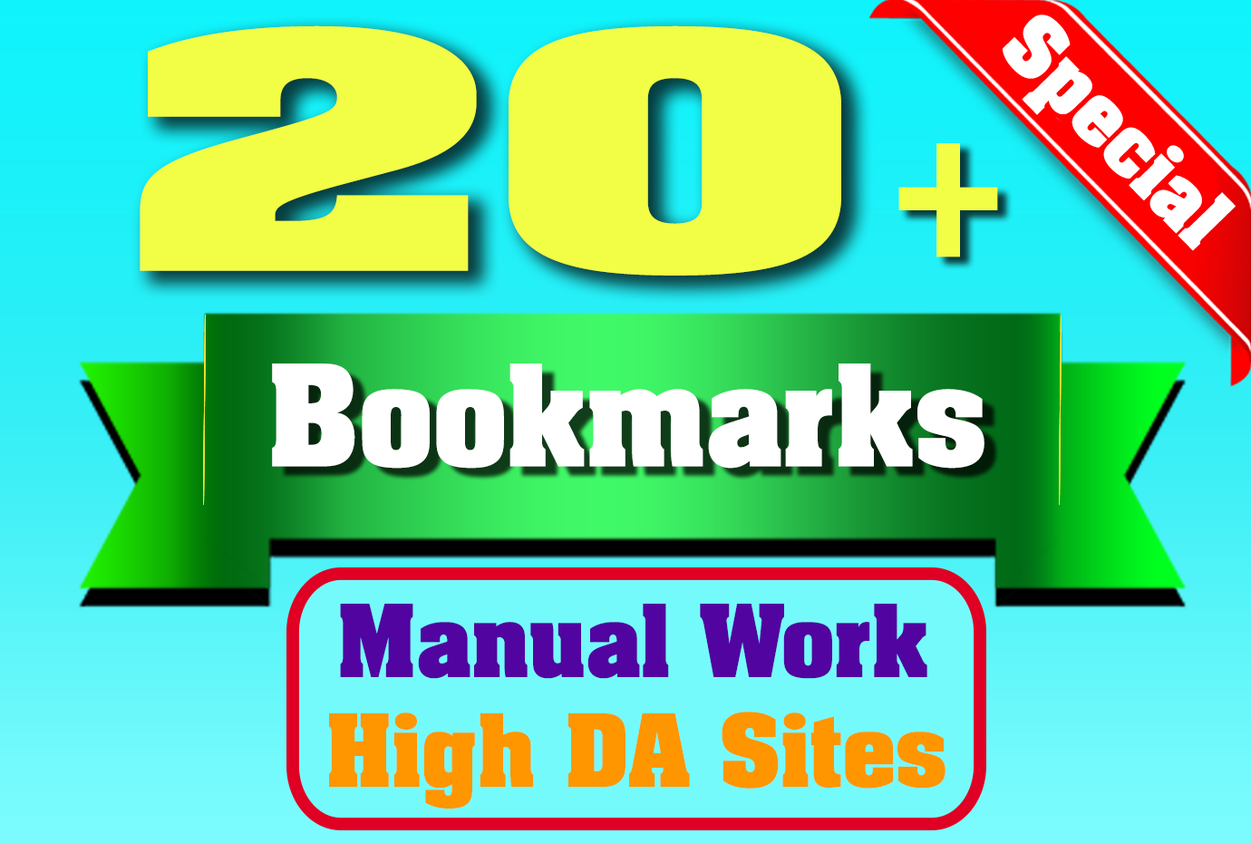 Manual Quality Social bookmarks 20 + High DA backlinks for your website