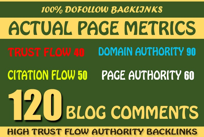 Do 120 Back Links from SEO Blog Comment On Unique Domains for AduIt sites page rank pr7 to 2