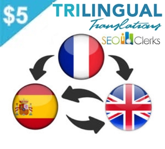 provide a professional English,  French and Spanish translation