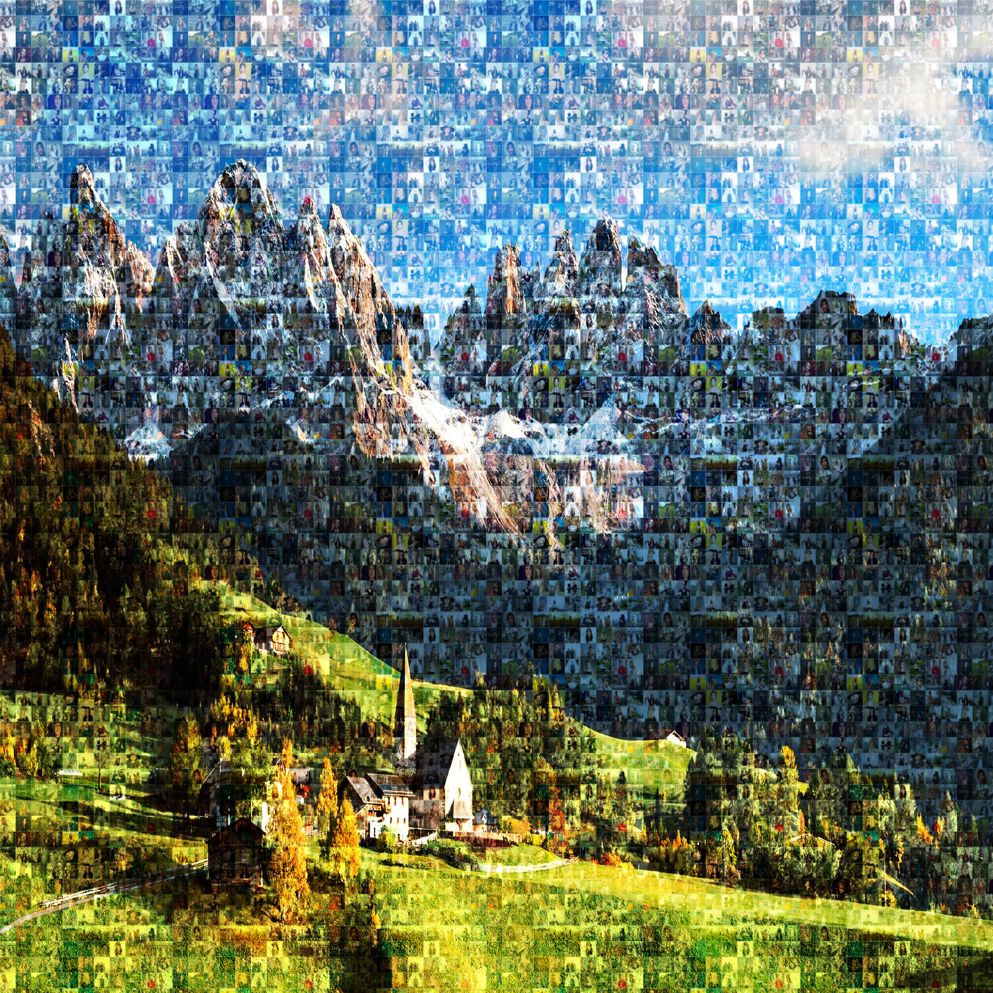 Convert your photo into STUNNING MOSAIC portrait less than 12 hrs