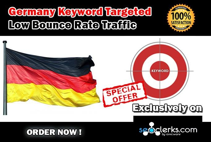 Drive 20000 GERMANY Keyword Targeted Low Bounce Rate Traffic