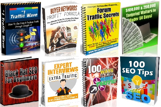 130 ebooks website traffic with resell right
