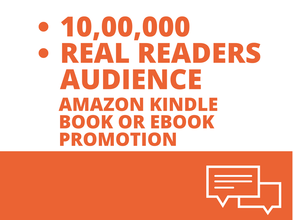 Amazon Kindle Book Or Ebook Promotion To 10, 00,000 Real Readers