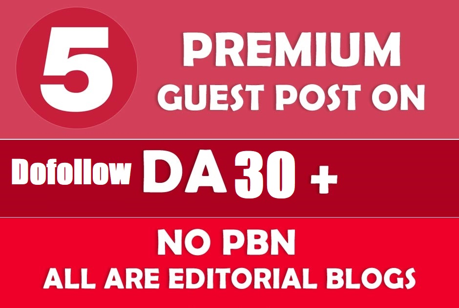 Write and Publish 5 High quality Health Guest Post With Dofollow Backlinks