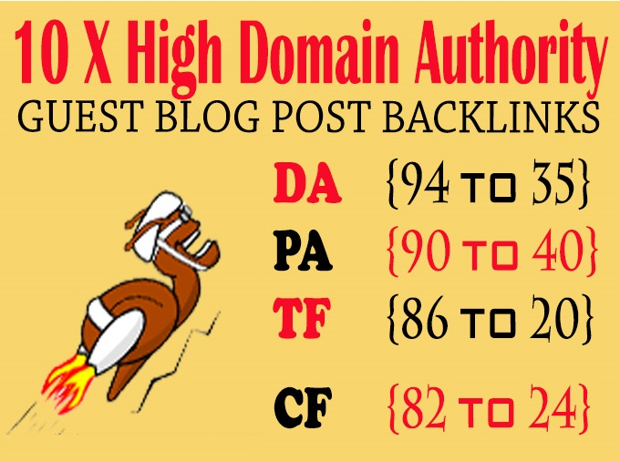 Publish 10 X High Authority Guest Post DA 50-93 Limited Offer