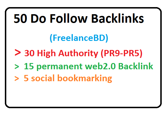30 PR9-PR5,15 Web2.0 And 5 Social bookmarking backlinks