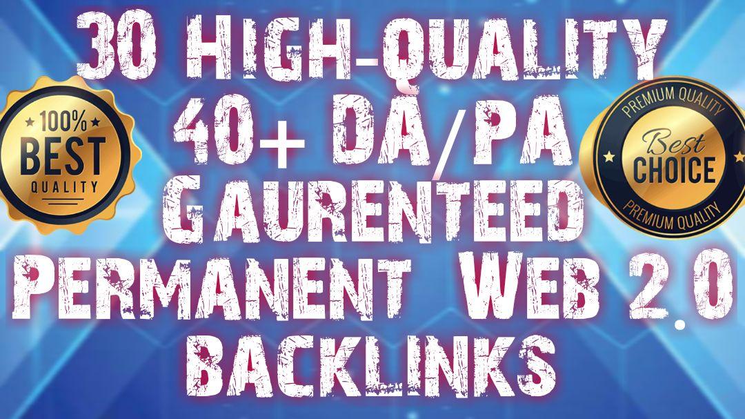 Web 2.0 PBN 40 BACKLINKS FROM DA/PA 28+