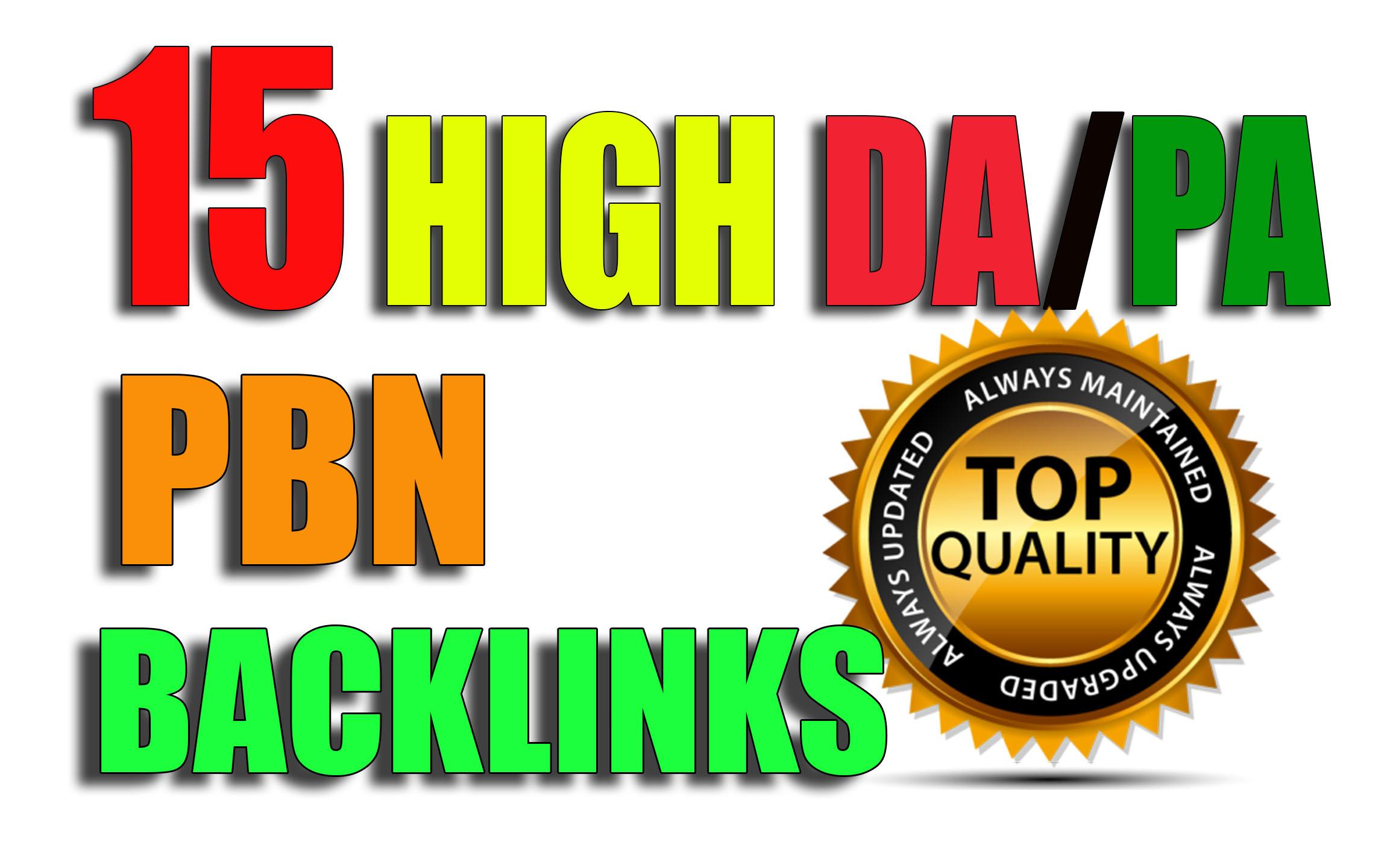 Build 15 High PA/DA/TF/CF Permanent Homepage PBN Backlinks With Skyrocket Quality Links