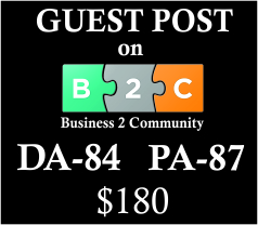 Guest Post on Business2Community  com with DA 84, PA 87 with