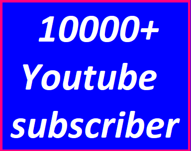 10k/10,000+You'Tube real and active channel subscriber veery fast delivery