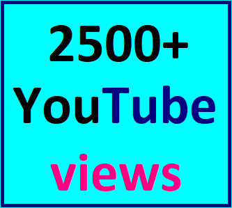 2000-3000 High Quality Youtube views non drop guaranteed instant start