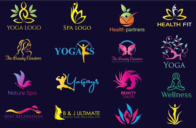 Design Modern Natural Spa Yoga Beauty Wellness Logo