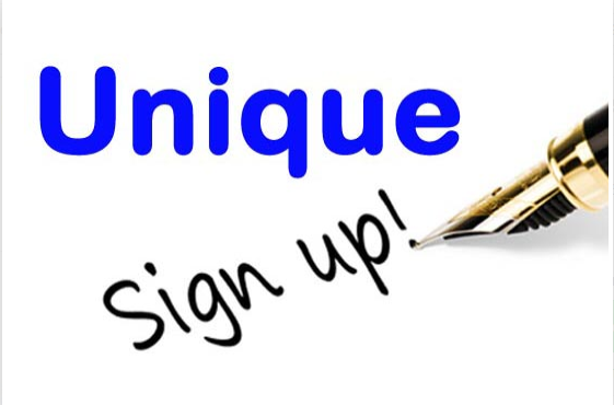 Provide Unique Signup on Website Or Anywhere