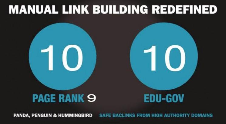 10 Pr9 + 10 Edu Gov Backlinks From High Authority Website