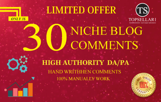 Limited Offer Provide 30 Niche Blog Comments High Quality Links  With Low Obl Links Backlinks