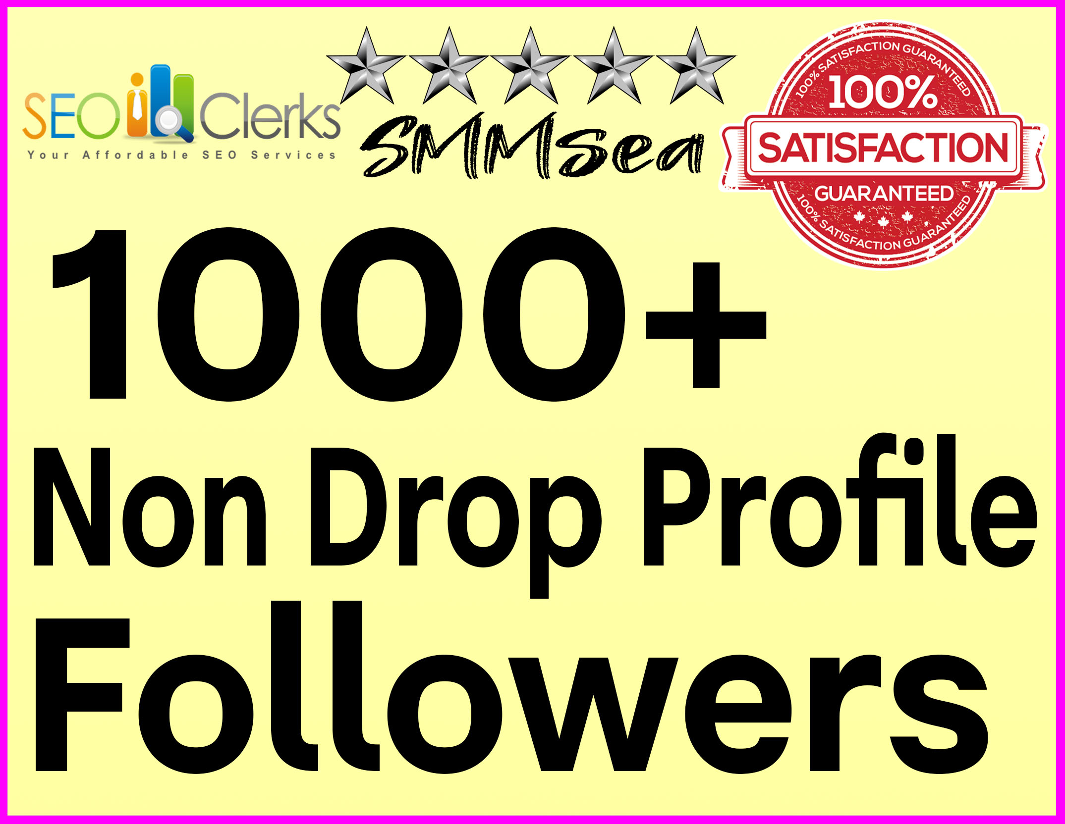 Add 1000+ Profile Followers High Quality & Non Drop Within 12 hours