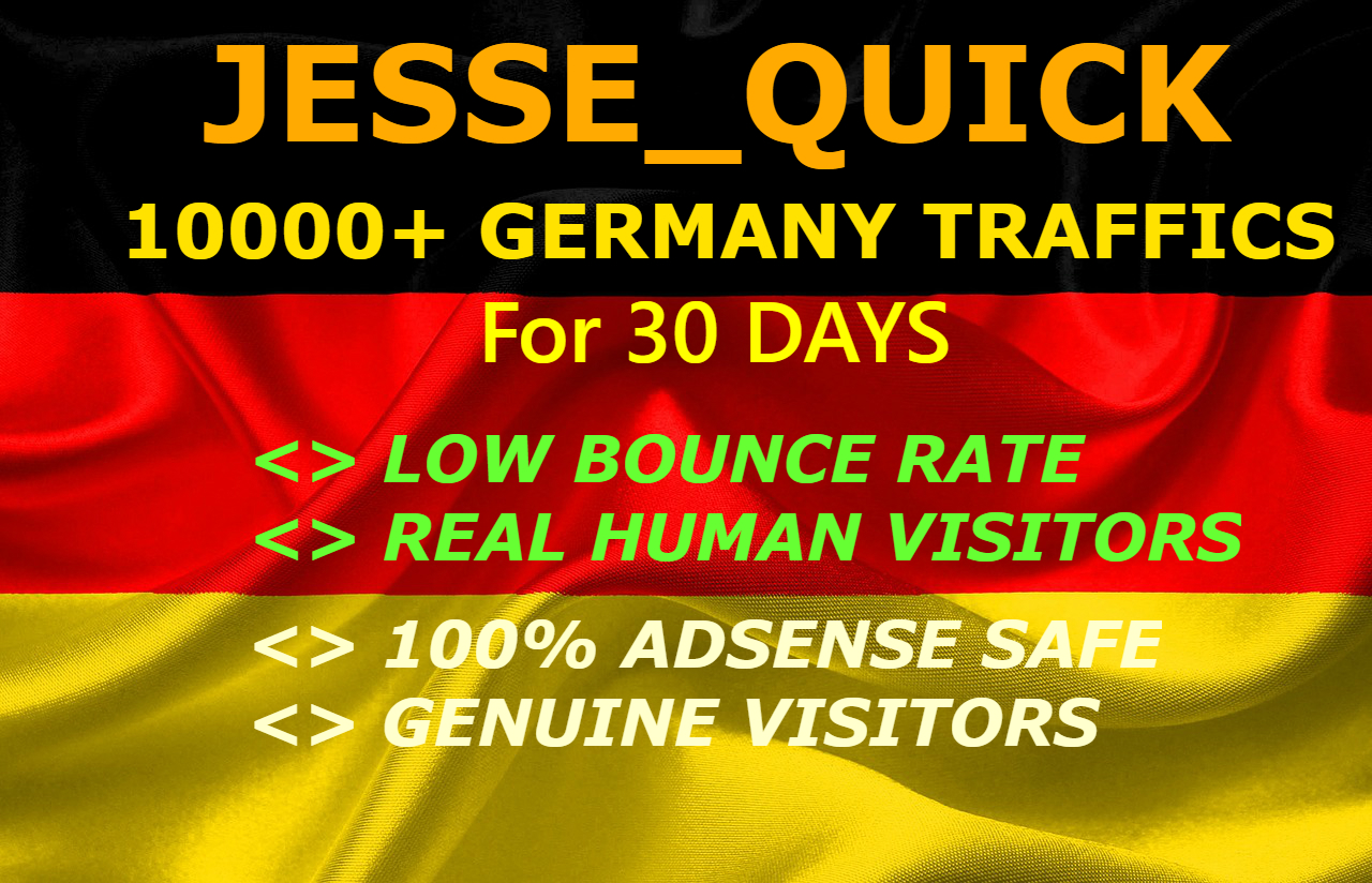 Drive Real German Visitors With Low Bounce Rate for 30 days