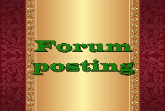 I offer 12 high quality Forum posting