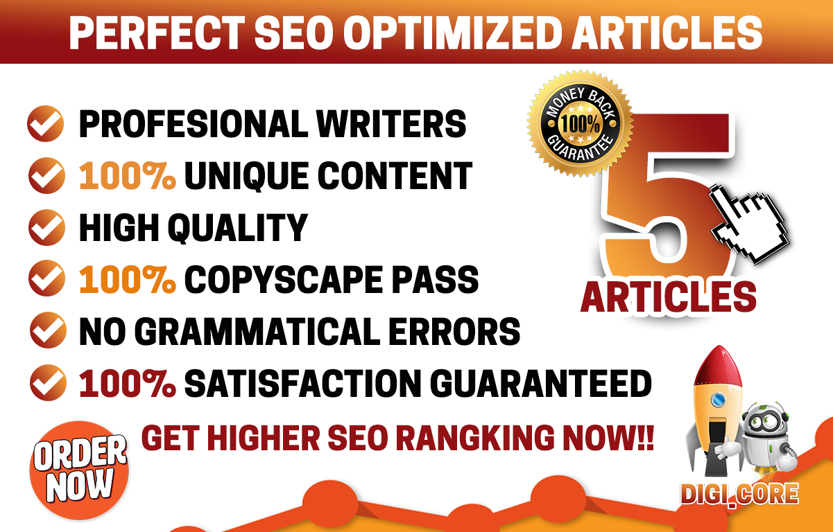Write 2 Perfect SEO Optimized And High Quality Articles