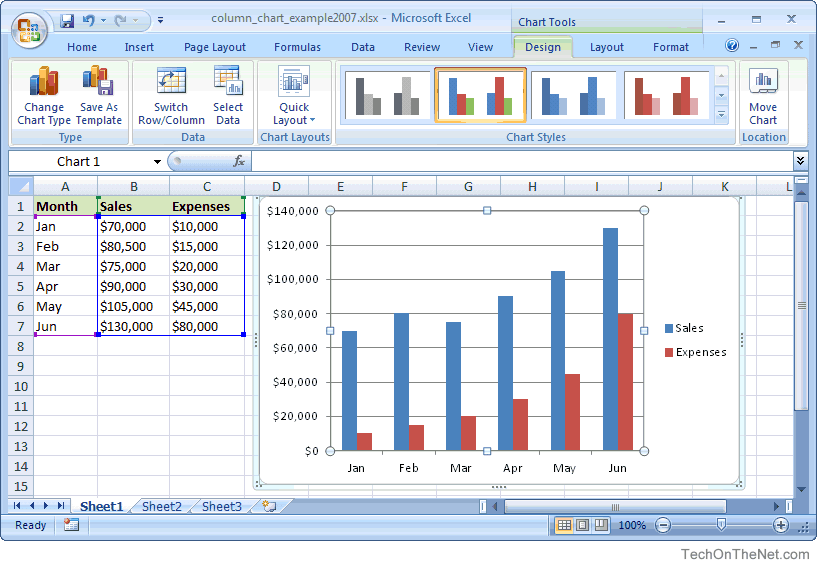 how to create a p of in excel