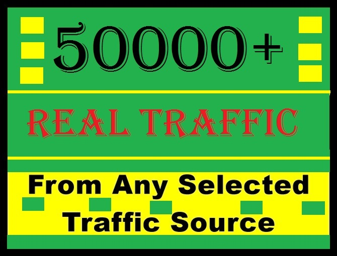 50000+ human traffic from Social media or google, bi...