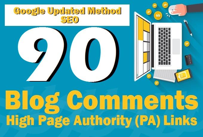 Create 90 backlinks SEO Backlinks, dofollow backlinks on Da 20 plus for you
