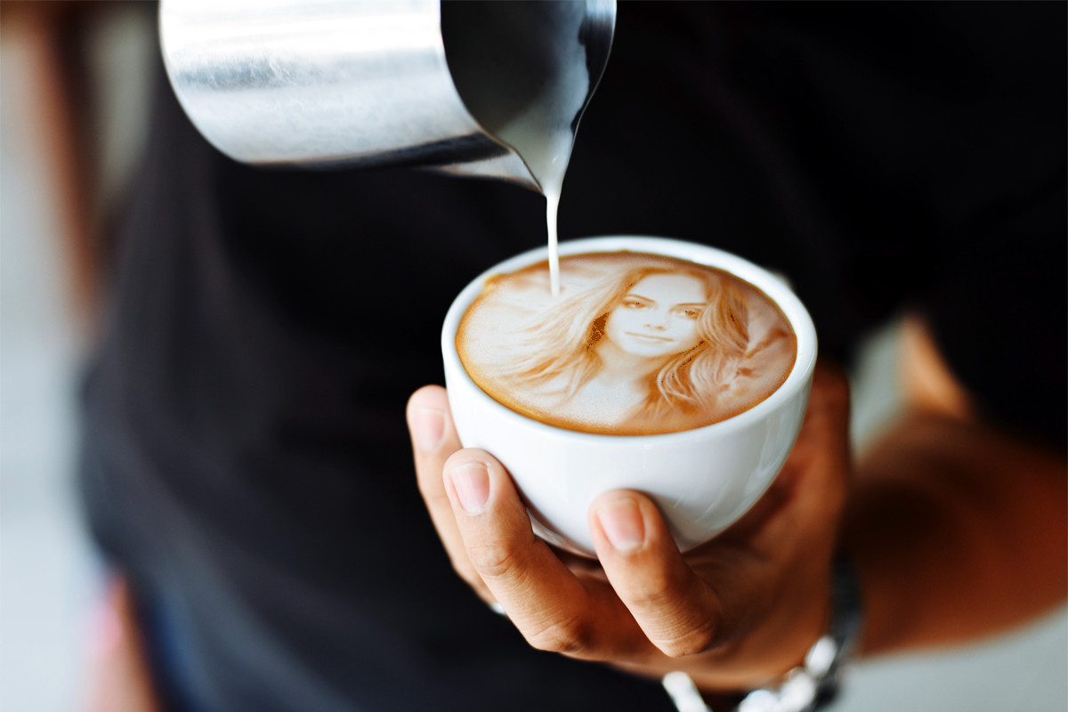put your logo or photo in coffee cups